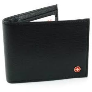 Alpine RFID blocking Black bi-fold Wallet